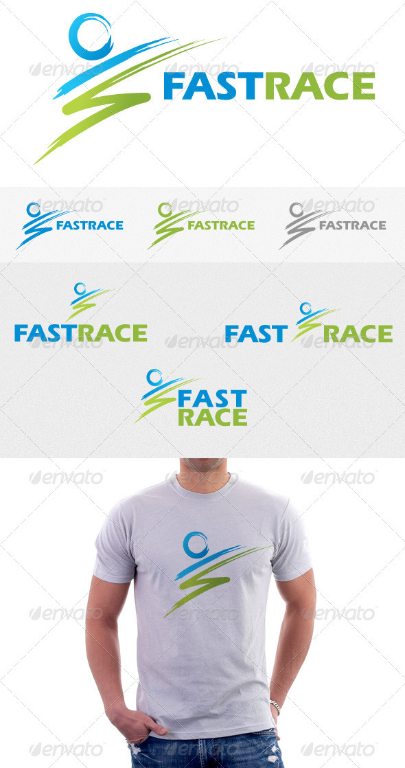 Fast Race Logo - Vector Abstract