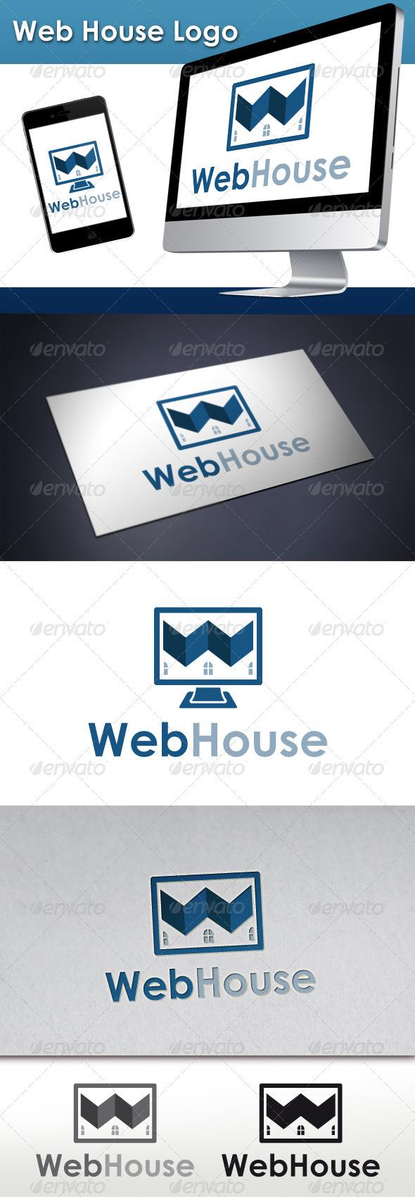 Web House Logo - Buildings Logo Templates