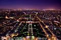 Paris panorama, France at night. - PhotoDune Item for Sale