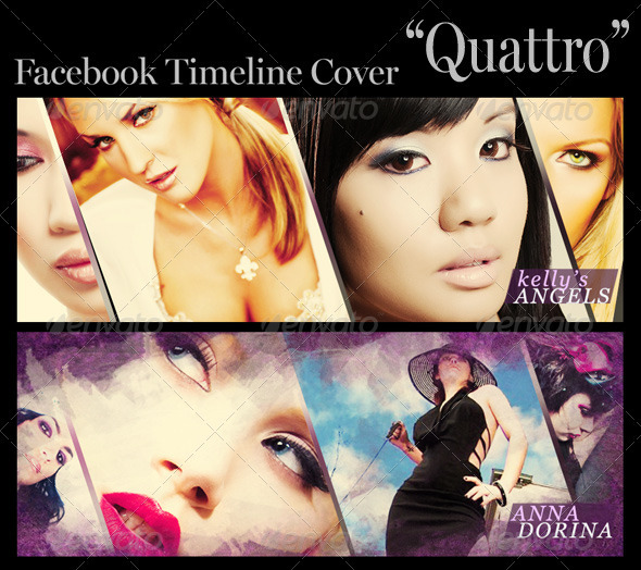 "FB Timeline Cover ""Quattro"" - Facebook Timeline Covers Social Media"