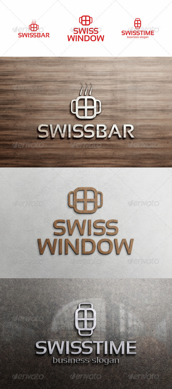 Swiss Cross Logo - Symbols Logo Templates