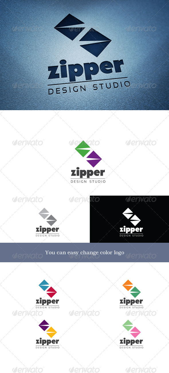 Zipper - Letters Logo Templates