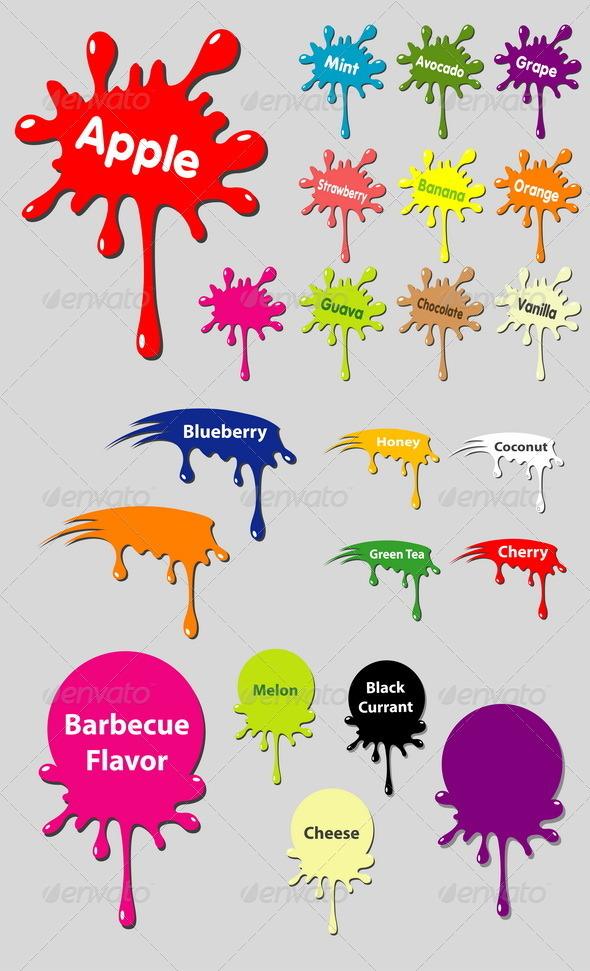 Splash Vectors - Decorative Symbols Decorative