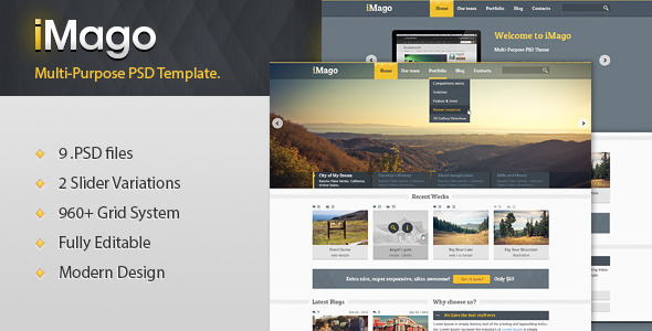 Imago – Multi Purpose PSD Template
