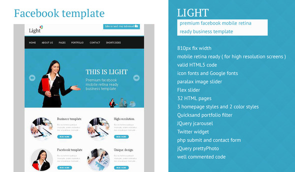 Light – Facebook Business High Resolution Template
