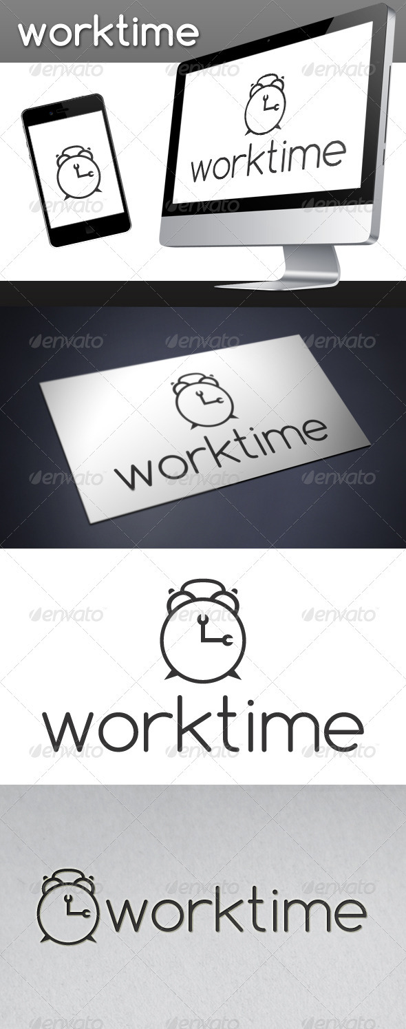 Work Time Logo - Objects Logo Templates