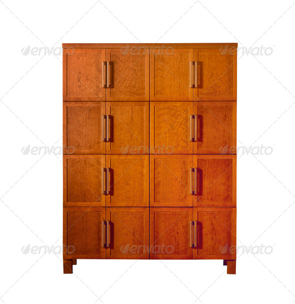 beautiful modern locker. isolated on white. (clipping path) - Stock Photo - Images