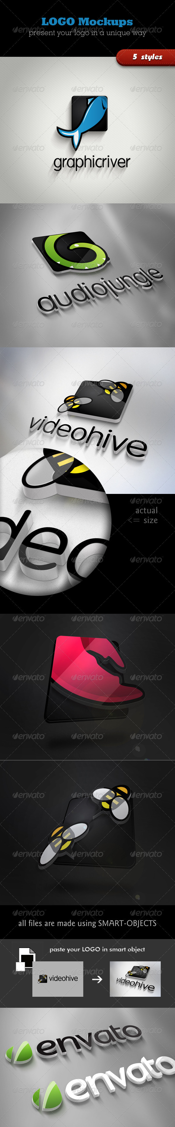 3D Logo Mockups - Logo Product Mock-Ups