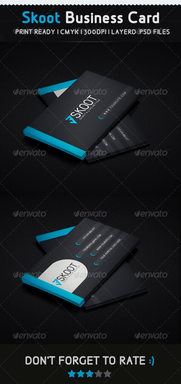 Skoot Creative Business Card - Creative Business Cards