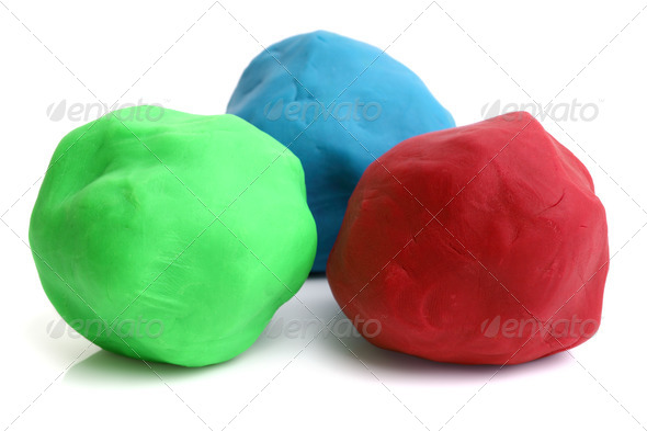 Childrens play clay - Stock Photo - Images
