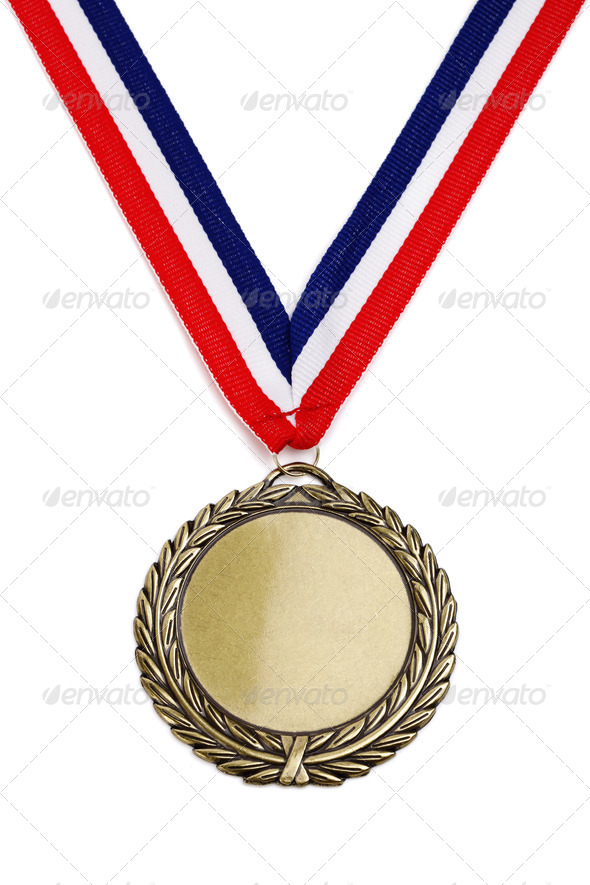Olympic gold medal - Stock Photo - Images