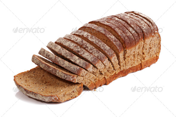 Sliced wholemeal bread - Stock Photo - Images