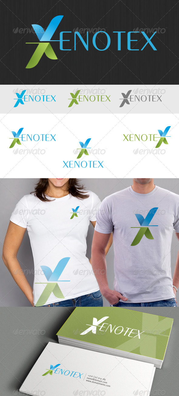 Xenotex Logo - Letters Logo Templates