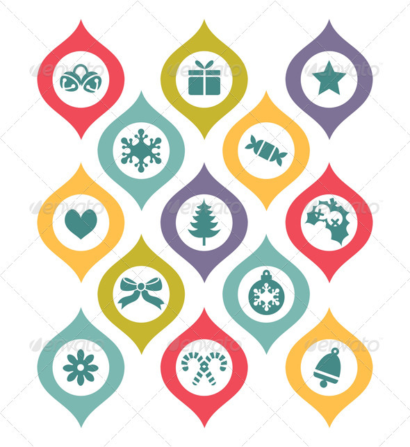 Holiday Decorative Elements - Decorative Vectors