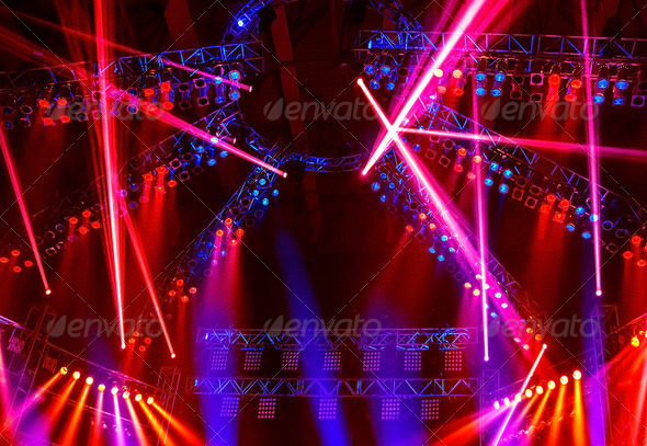 Night club lights - Stock Photo - Images