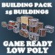 Low Poly Game Buildings Pack 01 - 3DOcean Item for Sale