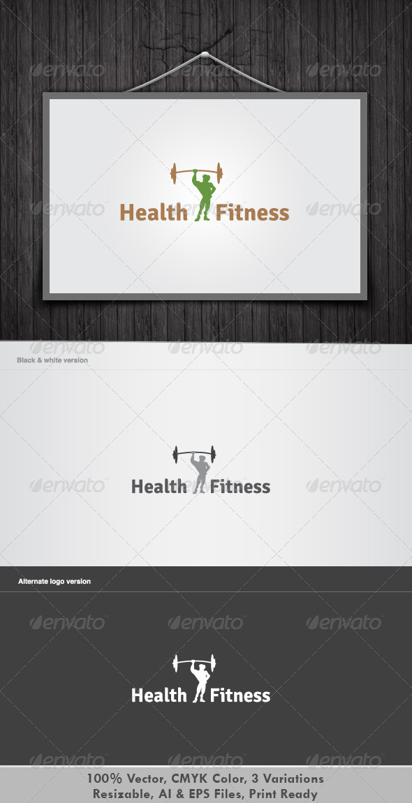 Health & Fitness - Objects Logo Templates