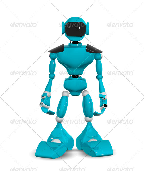 standing robot - 3D Backgrounds