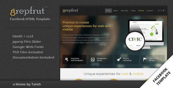 Grepfrut Business Facebook Template - Business Corporate