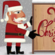 Santa with Wooden Sign in the Snow Illustration - GraphicRiver Item for Sale
