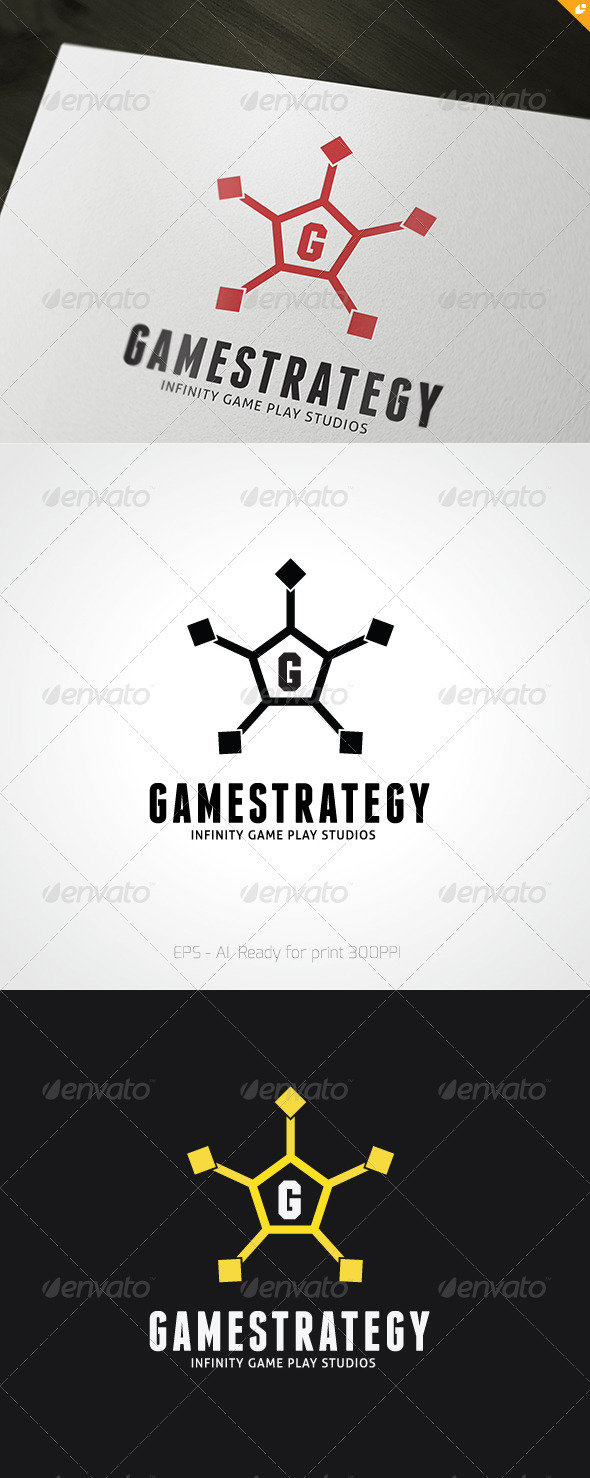 Game Strategy Logo - Objects Logo Templates