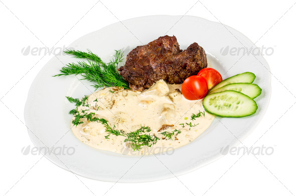 roast beef isolated - Stock Photo - Images