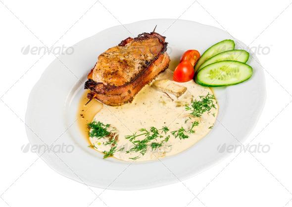 roast pork isolated - Stock Photo - Images