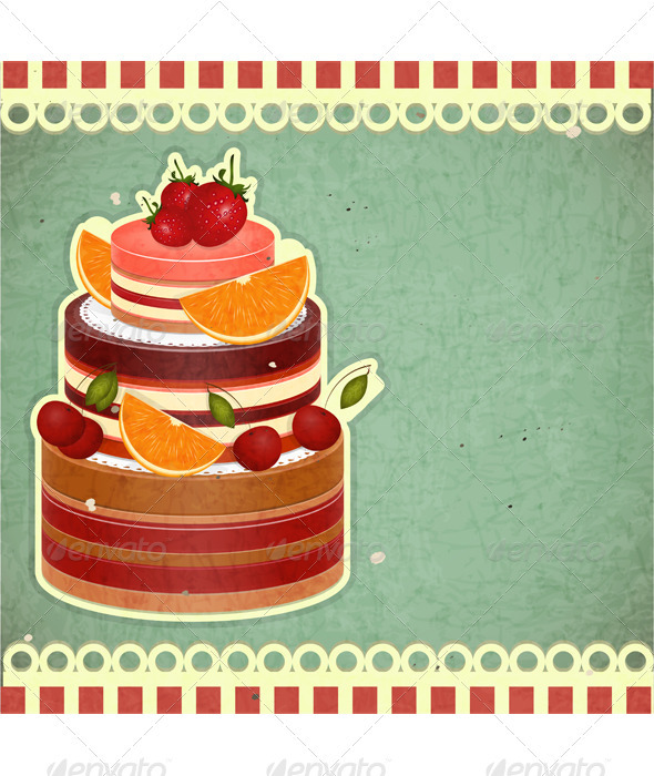 Cover retro dessert Menu - Food Objects