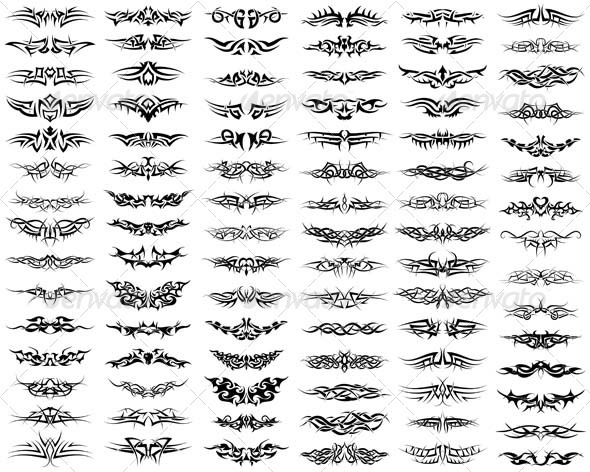 Tattoos Set - Tattoos Vectors
