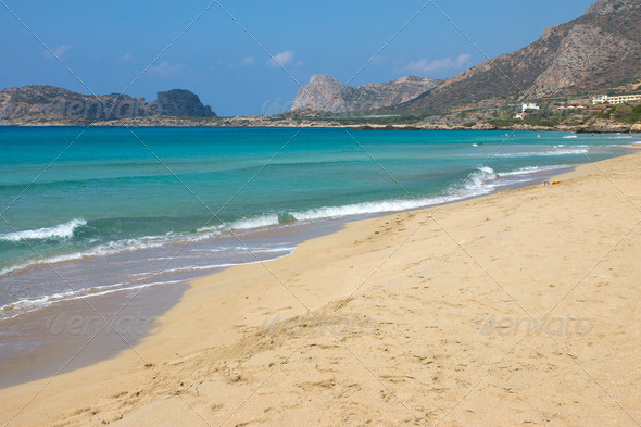 The beautiful Falassarna beach  - Stock Photo - Images