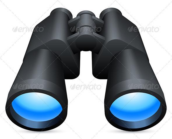 Binoculars - Objects Vectors