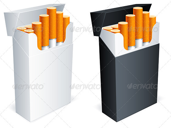Cigarette Pack - Objects Vectors