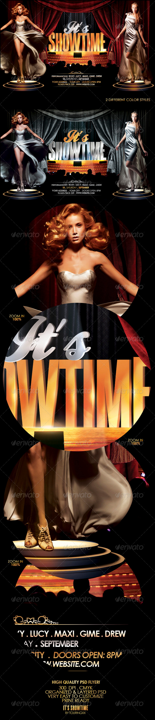 It's Showtime Flyer Template - Events Flyers