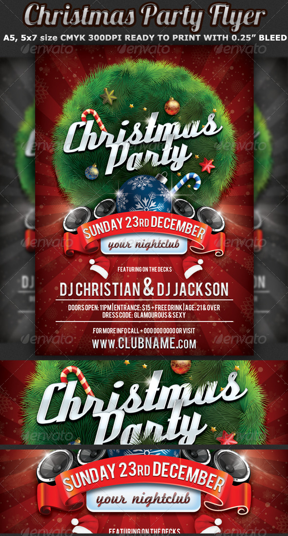 christmas party flyer celebration template events flyers