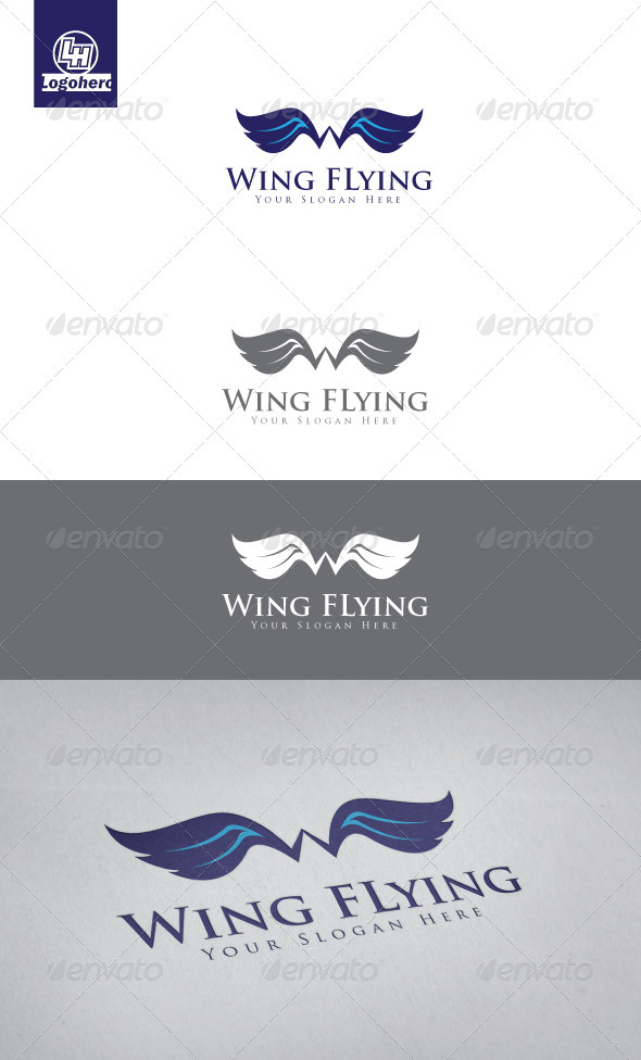 Wing Flying Logo Template - Symbols Logo Templates