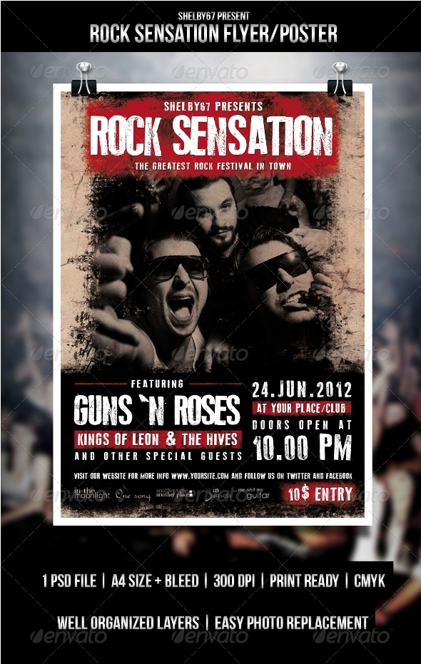Rock Sensation Flyer / Poster - Events Flyers