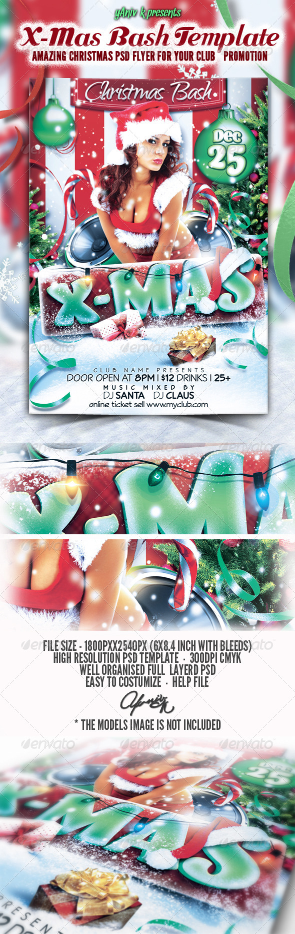 X-Mas Bash Flyer Template - Flyers Print Templates