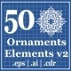 50 Ornaments Elements v2 - GraphicRiver Item for Sale
