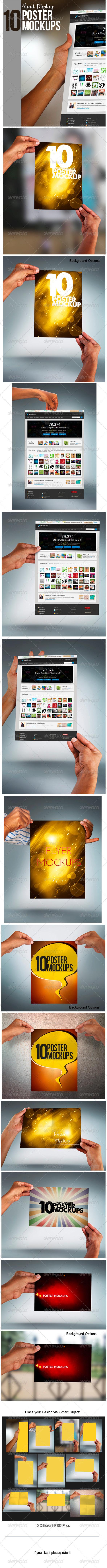 Hand Display Poster Mockup - Posters Print