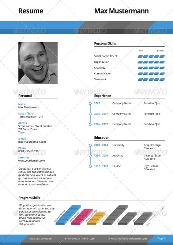 professional elegant square resume cv set by offi
