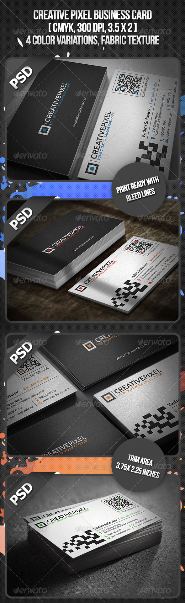 Creative Pixel Business Card - Creative Business Cards