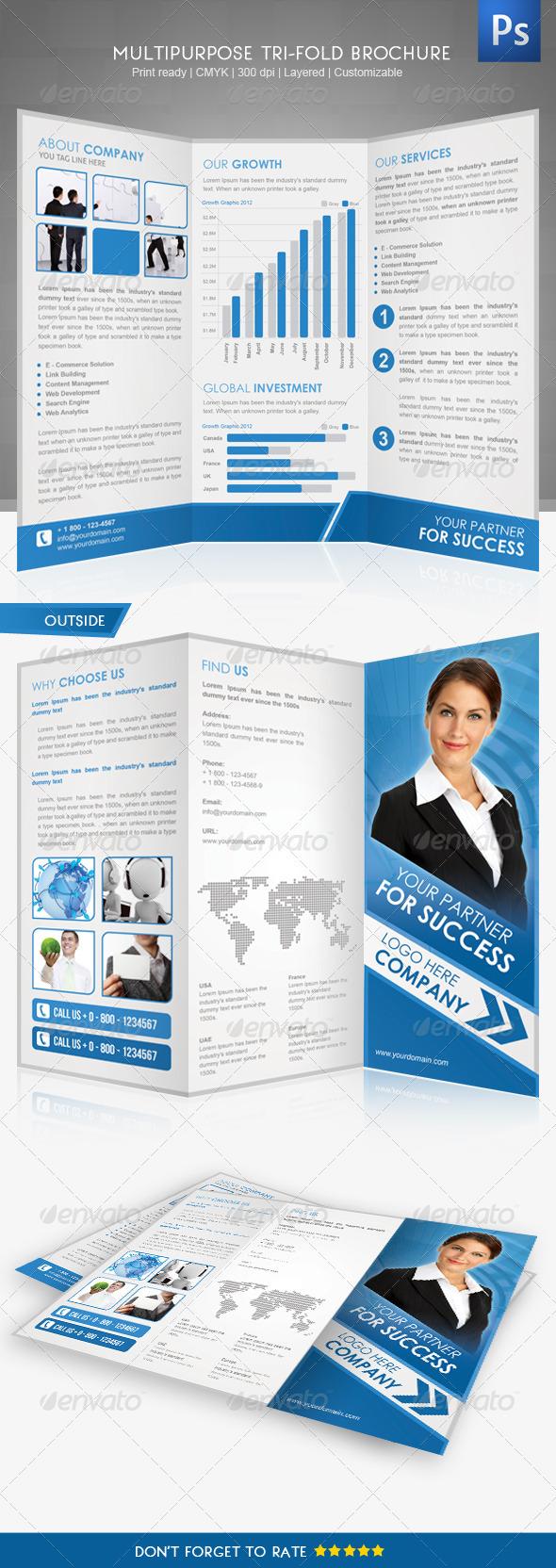 Corporate Tri-Fold Brochure II - Corporate Brochures