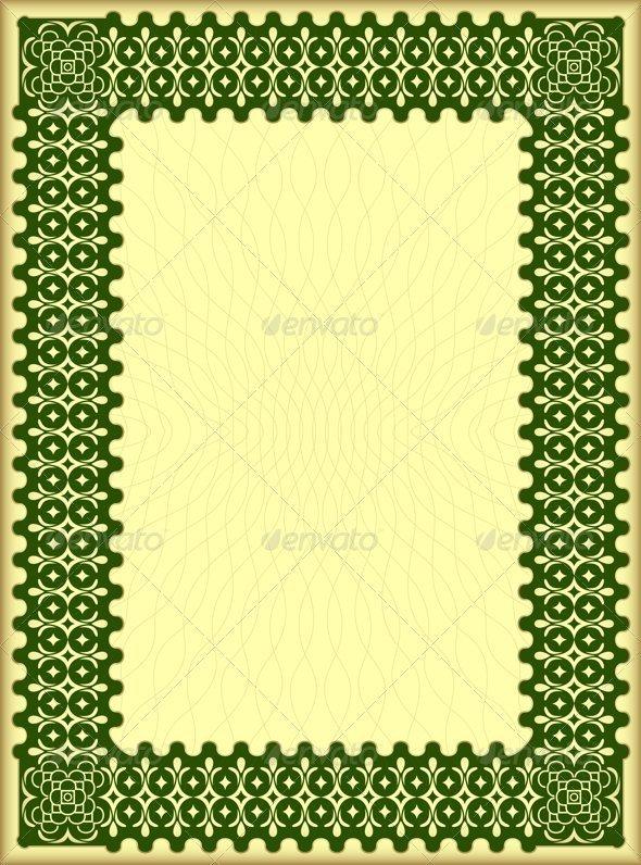 Decorative certificate - Borders Decorative