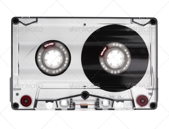 Audio Cassette Isolated - Stock Photo - Images