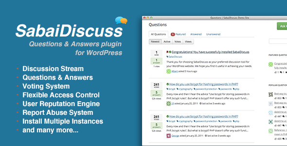 Sabai Discuss plugin for WordPress - CodeCanyon Item for Sale