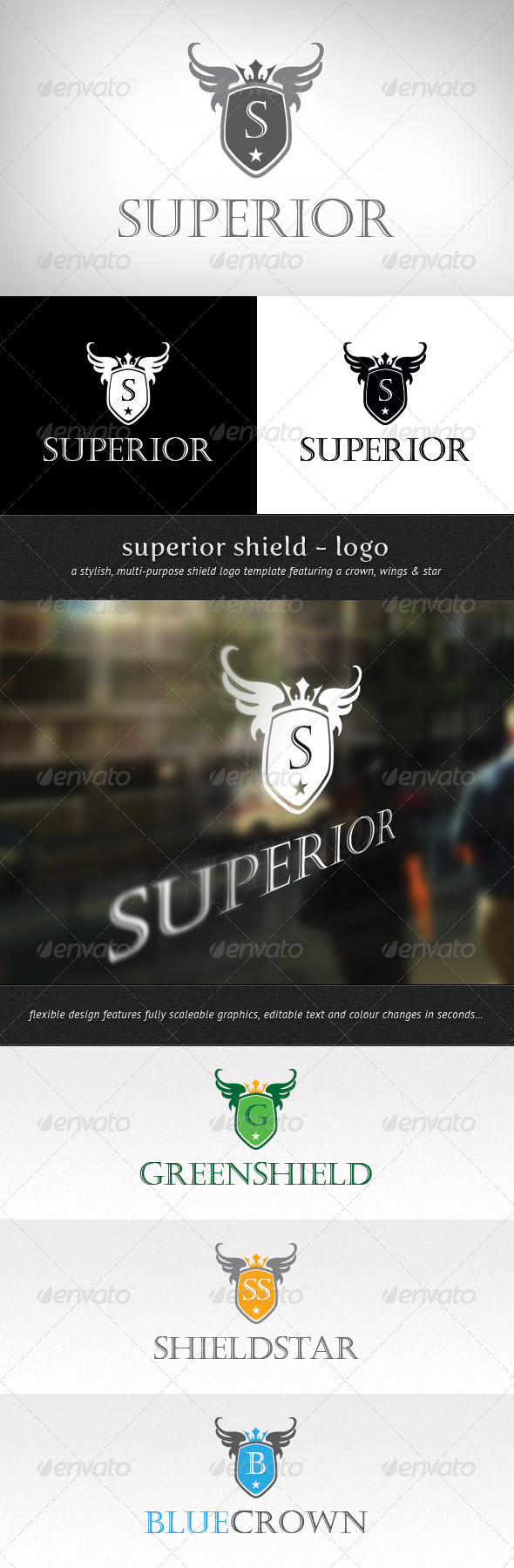 Superior Shield Logo - Crests Logo Templates
