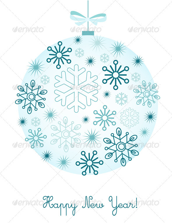 New Year Background With Snowflakes - New Year Seasons/Holidays