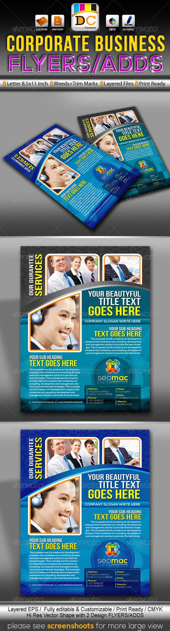 SeoMac Corporate Business Flyers/Adds  - Corporate Flyers