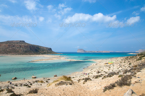 Balos Beach on Crete island - Stock Photo - Images