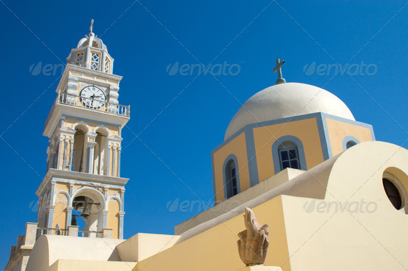 Church in Fira  - Stock Photo - Images